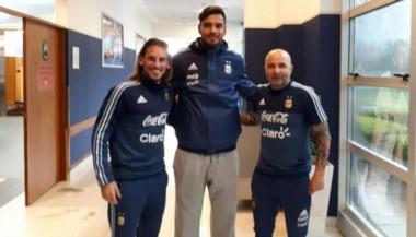 Beccacece, Romero y Sampaoli mantuvieron una reunión.