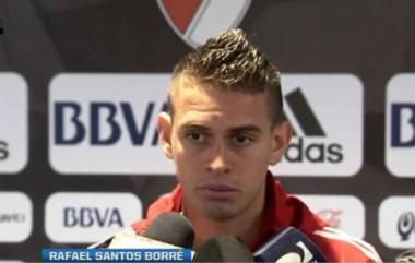El delantero colombiano habló tras la práctica de hoy.