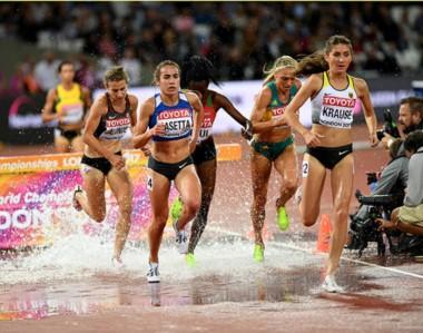 Belén Casetta fue 10ª en la final mundial de 3.000 metros con obstáulos. Logró récord sudamericano.