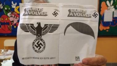 El panfleto derivó en voto anulado y fue remitido a las autoridades electorales (foto Ortiz/@RaulCarello)