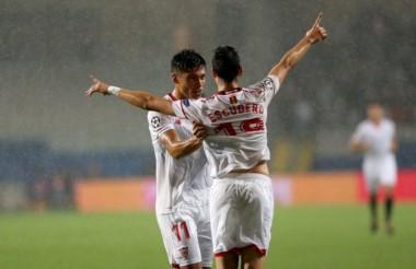 Con goles de Escudero y Ben Yedder, Sevilla venció 2-1 a Basaksehir (Elia) en Turquía.