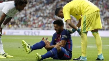 """""""Lucho"""" sufrió una lesión ligamentaria en su rodilla derecha en el último Real Madrid-Barcelona."""