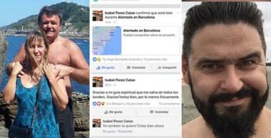 María del Carmen Álvarez, los mensajes de Isabel Pérez Catán en redes sociales y Gonzalo Outeda Giménez.