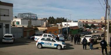 Procedimiento policial en la zona donde se produjo el brutal ataque a balazos que liquidó a  Nogales.