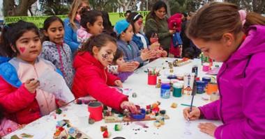 Las familias vivieron a pleno la propuesta del día del niño,  organizada por la comuna portuaria.