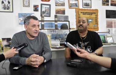 Germán Vásquez y Sixto Garay aseguraron que el viaje solidario es una caricia al corazón de los veteranos.