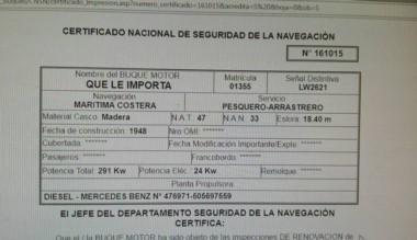 """El barco siniestrado pertenece a la empresa """"Es Posible SRL"""" cuyo propietario es Eduardo Masud."""