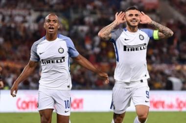 Inter perdía con la Roma pero apareció él. Icardi puso arriba a los suyos en solo 10 minutos.