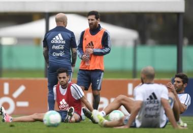 Sampaoli volvió a reunirse con Messi y Sampaoli.