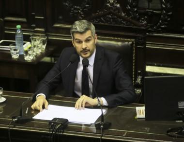 Explícito. Peña dio la visión oficial ante los diputados nacionales.