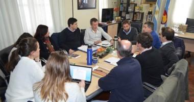El encuentro de trabajo para definir cómo se avanzará con las tareas para reconstruir la ciudad.
