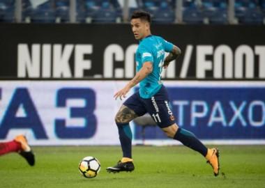 Driussi tuvo una gran actuación en la goleada del Zenit.