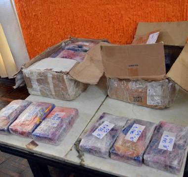 Una muestra. Once kilos de cocaína de altísima calidad, distribuidos en varios panes para el juicio oral.