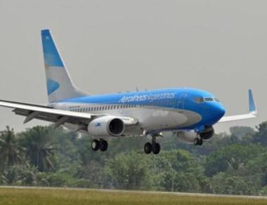 El vuelo de Aerolíneas Argentinas tiene un 78 % de ocupación.