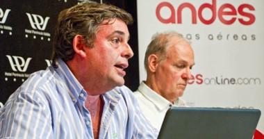 Sprunger, gerente comercial y  Derqui, de Marketing, brindaron detalles de la política de inversión.