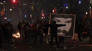 Incidentes en Plaza de Mayo, tras la marcha por la aparición de Santiago Maldonado.