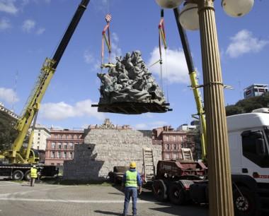 La estatua de Juana Azurduy estará frente el Centro Cultural Kirchner.