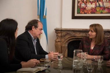 La Procuradora General de la Nación en la reunión mantenida con representantes de las Naciones Unidas.