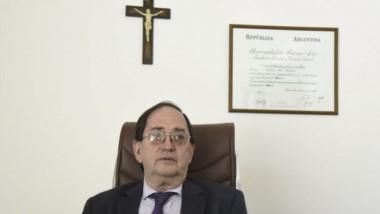 El fiscal Bellver en su despacho (foto gentileza diario El Patagónico).