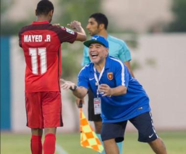 Al Fujairah, el equipo que dirige Diego Maradona, arrancó con victoria en la Copa Presidente.
