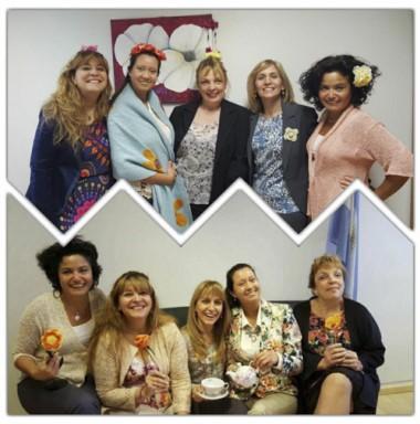 Flores. Las juezas de Madryn celebraron la llegada del calorcito.