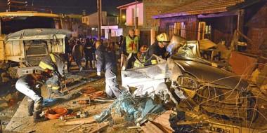 El  accidente sucedió el 3 de mayo pasado. Allí un camión Fiat 619 impactó contra un Chevrolet Corsa.