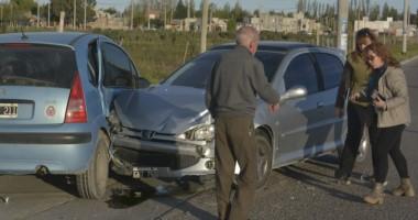 Otro más y van. Esta vez colisionaron en la esquina de Cangallo y Pellegrini. Fueron dos automóviles.