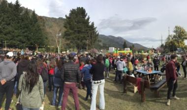 La plaza central  fue sede de las actividades  por el Día de la Primavera.