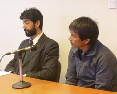 Eulogio Muñoz en la audiencia de lectura donde fue condenado.