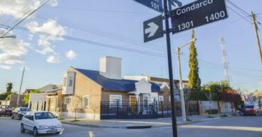 En este lugar fue donde se produjo el hecho en plena madrugada de ayer, en el barrio Los Olmos de Trelew.
