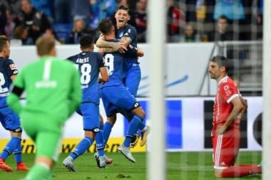 Hoffenheim derrotó 2-0 al Bayern Munich y le quitó el liderazgo de la Bundesliga.