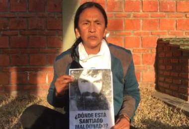 """""""Me solidarizo con la familia de Santiago Maldonado y exijo su aparición con vida ya, que dejen de encubrir a los gendarmes"""", sostuvo la referente kirchnerista."""