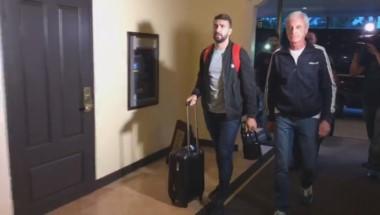 Lucas Pratto llegó a Miami, donde comenzará a entrenarse con sus nuevos compañeros.