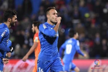 Cala le dio los tres puntos a Getafe ante Málaga.