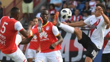 River cayó ante Independiente Santa Fe, en en el marco de un amistoso de pretemporada en Miami.