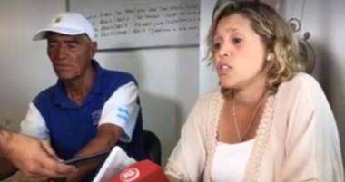 """Amadeo Gallardo y María Inés Bordenave, en la presentación de la 19° edición de la """"Corrida de la Bahía""""."""