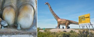 Cuatro de los sesenta bulones que sostienen la réplica del dinosaurio fueron aflojados, pero técnicos del MEF ya trabajaron en él.