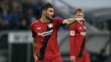 Lucas Alario lleva cinco goles en Bundesliga en 748 minutos (un gol cada 149 minutos).