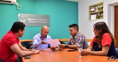 El intendente se reunió con Gastón Alcucero para revalidar el apoyo del municipio.