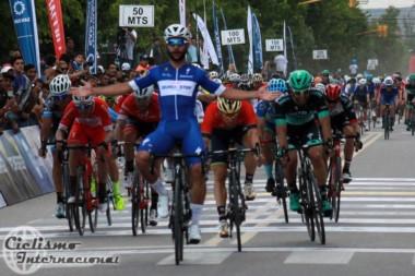 El colombiano Gaviria ganó la primera etapa de la Vuelta a San Juan.