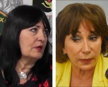 Juezas. Mengoni (izquierda) y Skanata, las juezas de la sentencia.