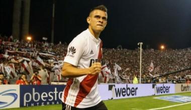El colombiano Rafael Santos Borré le da la victoria parcial a River.