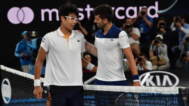 Chung eliminó al seis veces campeón Novak Djokovic y se convierte en el primer jugador coreano en alcanzar QF en un Grand Slam.