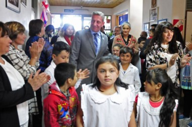 El gobernador Arcioni inauguró el ciclo desde el mismo lugar que lo hizo en 2004 Mario Das Neves.