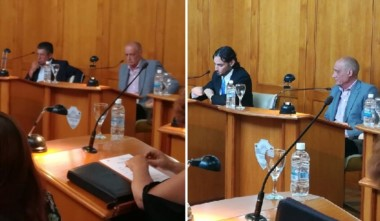 Moraga y Castán, al inicio de la extraordinaria. A la derecha, la misma escena pero con Aguilar en la banca.
