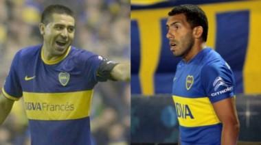 Riquelme volvió a elogiar a Tevez y aseguró que Boca puede ganar los tres torneos que jugará.