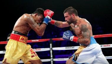 El argentino ganó por KO en el octavo round ante el tailandés Tewa Kiram y se quedó con la gloria en California.