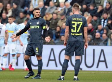 Mal momento de Icardi en el Inter. Sampaoli no se quedó a presenciar el empate con SPAL. Lleva un gol en seis partidos.