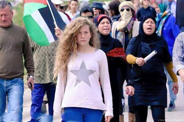 Ahed se convirtió en una líder de la causa palestina contra la ocupación israelí.