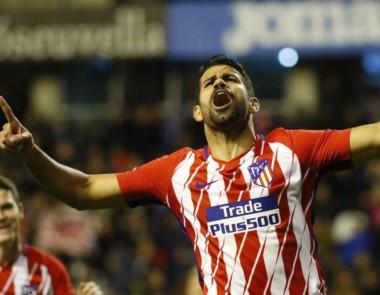 """Diego Costa volvió a jugar para el """"Aleti"""" y marcó uno de los goles."""